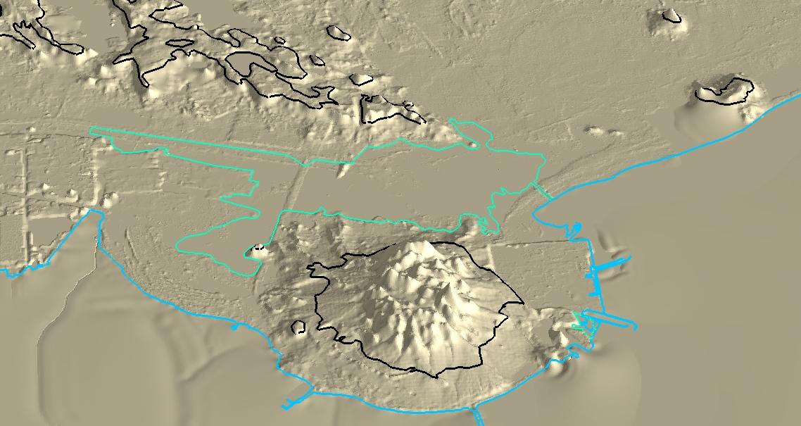 GIS 3-d outline